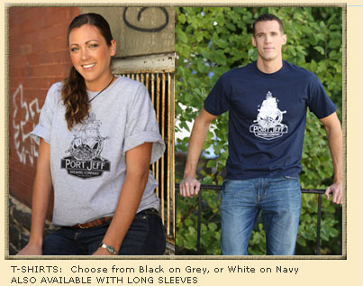 Port Jeff Brewery tshirts